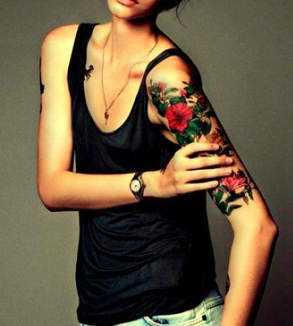 kwiaty na ręce