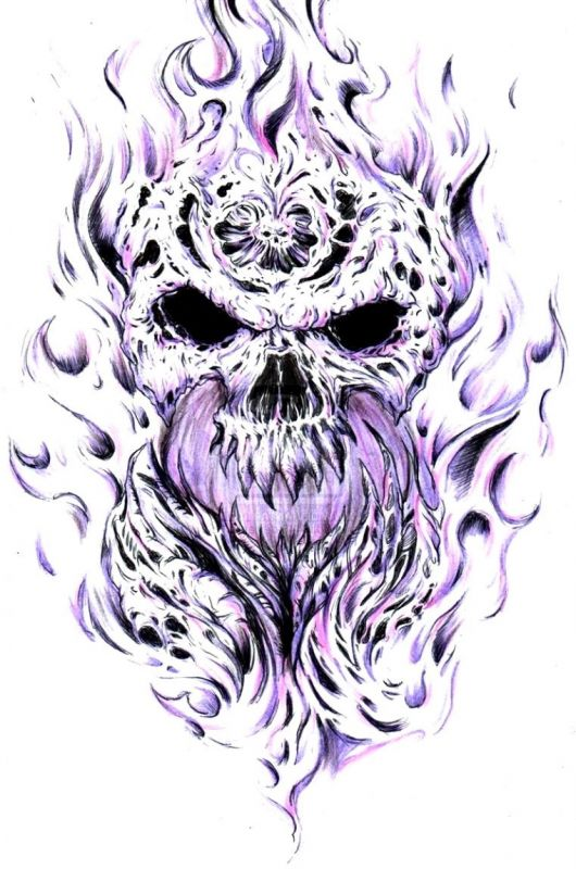 tatuaże czaszki 58395