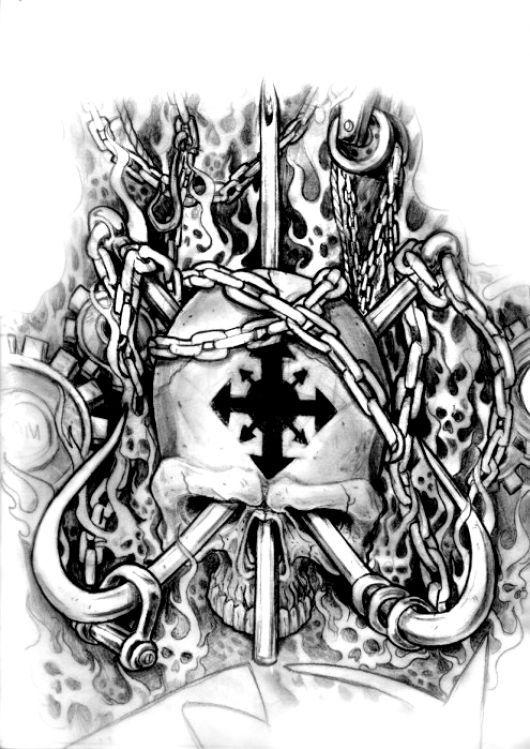 tatuaże czaszki 68436