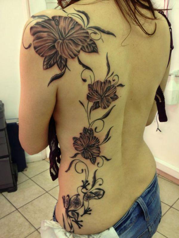 Kwiaty Tatuaże Na Plecach