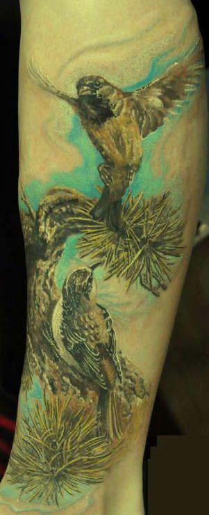 ptaki tatuaże