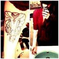 tatuaże słonie