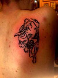byki tatuaże 3419