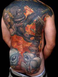 goryl na plecach