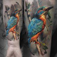 ptak tatuaż dla kobiety