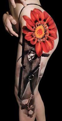 kwiatek i klamerka do prania