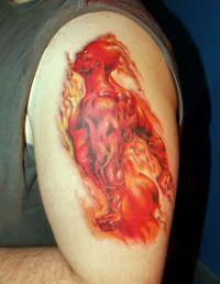 diabeł tatuaż
