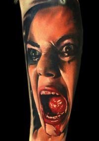 tatuaż zombi 3d kobieta