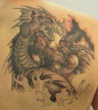 wiking walczy ze smokiem