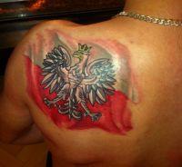 polski patriotyczny tatuaż